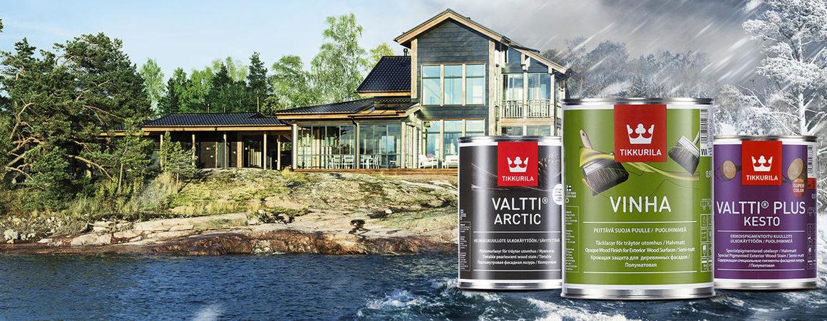 Выбирайте фасадные краски Tikkurila для долговечной защиты деревянных поверхностей!